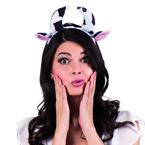 Kuh Accessoires Kostüm - Amakando Rinderohren und Kuhhörner Kuh Verkleidung Haarreifen mit Hörner Tierohren Kuhhorn Haarbügel Kuh Kostüm Accessoire Kuh Verkleidung Haarreifen mit Hörner