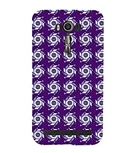 Vizagbeats Wheel Circular Swastic Pattern Back Case Cover for ASUS Zenfone 601 KL