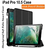 Oaky Newest iPad Pro 10.5 Inch 2017 Case with Pencil Holder Shockproof Lightweight
