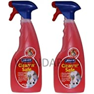 JOHNSONS CLEAN N SAFE CAGE BIRD BUDGIE PARROT DISINFECTANT CLEANER 2 PACK