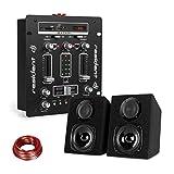 Resident DJ DJ-25 • DJ-Mixer • DJ-Mischpult • Bluetooth • auna ST-2000 • Lautsprecher Set • Boxenpaar • Passive 2-Wege Lautsprecher • LCD-Display • Echo-Regler • 10 m Lautsprecherkabel • Schwarz-weiß