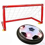DMbaby Spielzeug für 4-5 Jahre alten Jungen, Hover Ball mit 2 Tore Spielzeug für 3 Jahre alten Jungen schwarz WGDHB04