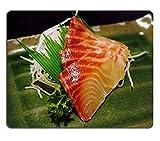 Yanteng 17P03971 Creatividad Alfombrilla de ratón para Juegos Sashimi Pescado Mariscos Material de Caucho Natural