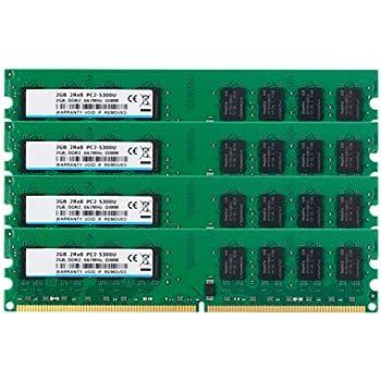 BPX DDR2 PC2-5300, PC2-5300 DDR2 667, DDR2 8 GB Kit (4x2GB ...