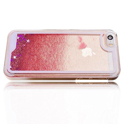 Coque iPhone 6 Plus / 6S Plus, SpiritSun Housse Étui Clair Étoile pour Apple iPhone 6 6S Plus (5.5 pouces) Ultra Mince Rigide Strass Coque Crystal Case PC Dur Couverture - Or Rose