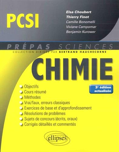 Chimie PCSI - 3e dition actualise