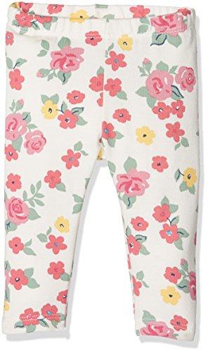 United Colors of Benetton Baby-Mädchen Legging 3ATKMF094, Elfenbein (Cream/ Flower Print), 74 (Herstellergröße: 68)