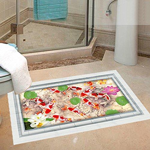 Immagini di bambini piano 3D adesivi bagno camere soggiorno camera da letto decorazione muro adesivo,Stagno (Immagine Gruppo)