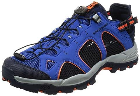 Salomon Techamphibian 3 Chaussures FOULE d'eau pour hommes, Bleu, 43 1/3