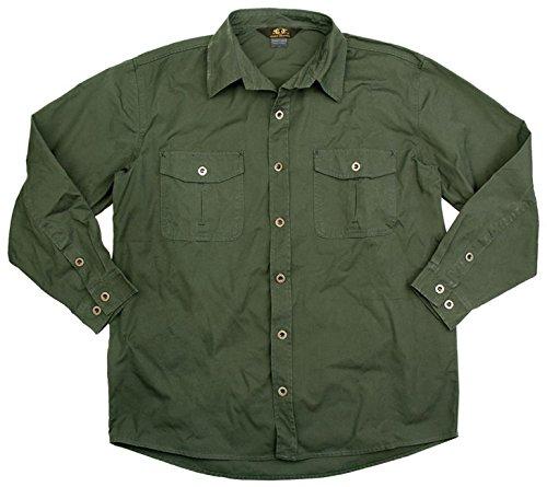 robustes Outdoor Herrenhemd in braun, grün und dunkelblau, Langarm Shirt