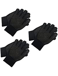 3 Pairs Adults Magic Stretch Driving Gloves With Grip Winter Warmer Accessory