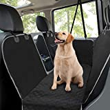 MANCRO Dog Car Seat Covers, Rear Car Seat Cover for Dogs with Mesh