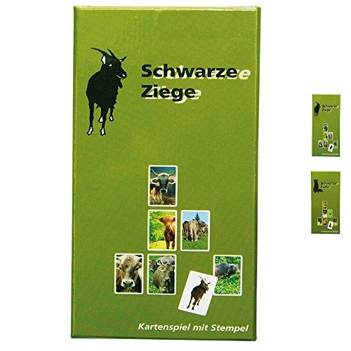 ebos Kartenspiel ✓ (Schwarzer Peter) ✓ 31 Spielkarten ✓ Spielanleitung ✓ zusätzlicher Stempel im entsprechenden Motiv | Spielspaß für die ganze Familie (Schwarze Ziege)
