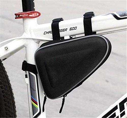 LLTS Mountain Bike Satteltasche Fahrrad Dreieck Tasche Beam Tasche Hartschalen Tasche, Schwarz