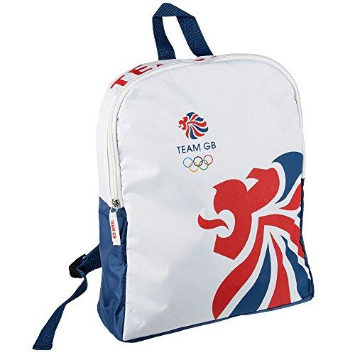 Rucksack im Design des britischen Olympia-Teams, Reisetasche für Snacks/Zubehör in blau/weiß/rot