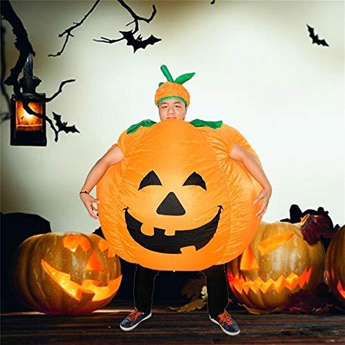 JZG Neuheit Kürbis Aufblasbare Kostüme Männer Frauen Kinder Halloween Kostüme Party Cosplay Aufblasbare Kleidung (Farbe : Gold)