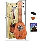Ukulele Kit, Lommer Ananas 17'' Ukulele 4 Cordes Guitare avec Tutoriel Jouets Musicaux pour Enfant et Adultes DébutantCadeau parfait pour les enfants qui sont intéressés à jouer avec la guitare.Matériel: ABS (plastique) + métalNuméro de chaîne: 4Tail...