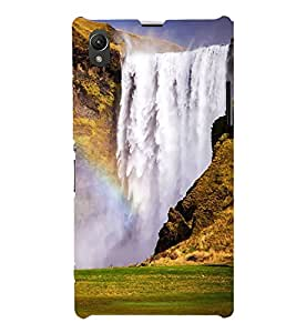 ifasho Designer Back Case Cover for Sony Xperia Z1 :: Sony Xperia Z1 L39h :: Sony Xperia Z1 C6902/L39h :: Sony Xperia Z1 C6903 :: Sony Xperia Z1 C6906 :: Sony Xperia Z1 C6943 (River Rocking Peaceful Shanti Scenary)