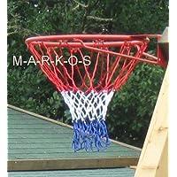 Land-Haus-Shop Basketballkorb, Basketball Korb Ring Netz, Metall rot, Basket Ball Korb (LHS)