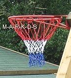 Basketballkorb, Basketball Korb Ring Netz, Metall rot, Basket Ball Korb (LHS)