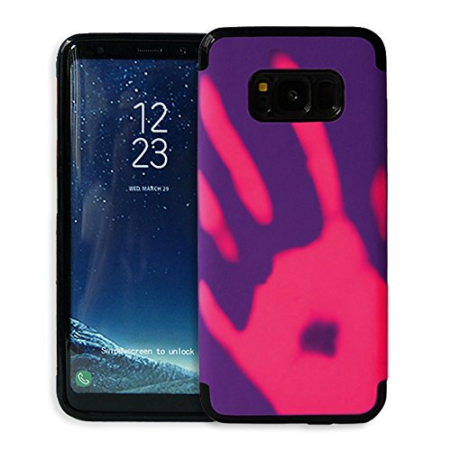 Galaxy S8 Plus Hülle ,Snewill Magic Heat-Sensitive 3 in 1 Case Color Changing Thermal Sensor Heat Thermal Induction Shockproof Protective Hard PC Cover Case for Samsung Galaxy S8 Plus (Rot zu gelb) Lila zu pink