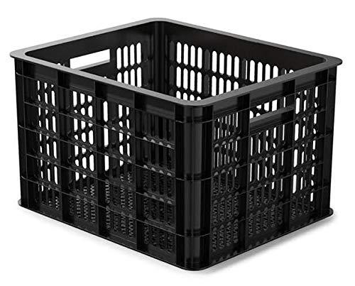 Basil Unisex- Erwachsene Crate M Fahrradkiste für den Vorderradgepäckträger, Black, 40 cm x 33 cm x 25 cm