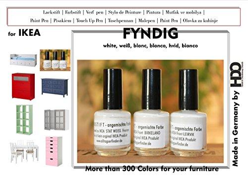 Farbstift Lackstift Touch-Up-Pen for IKEA Fyndig white