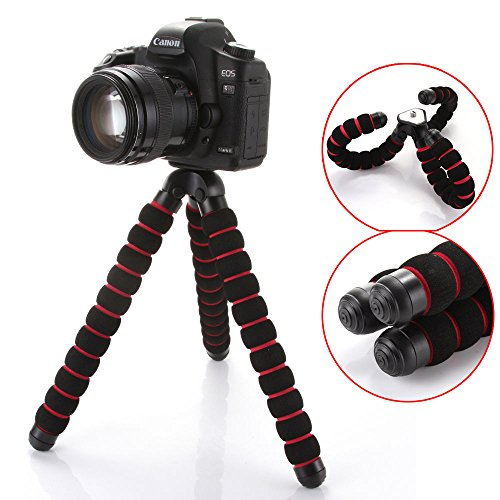 QUMOX Octopus Flexible Soporte para trípode Gorillapod para Cámara Digital DV Canon Nikon, L