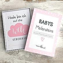 Wunderbar anders /& einzigartig everlar/® 30 Lustige Baby Meilenstein Foto Karten Unvergessliche /& humorvolle Erinnerungen Liebevoll gestaltet Ideales Geschenk f/ür Geburt /& Taufe