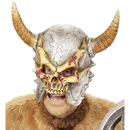 Widmann - Maske Wikinger mit Hörnern (Shirt Erwachsenen Skelett)
