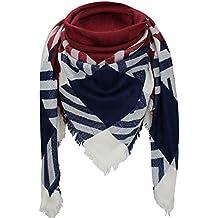 Bufanda de inviernoXXL –de cuadros–doble bufanda