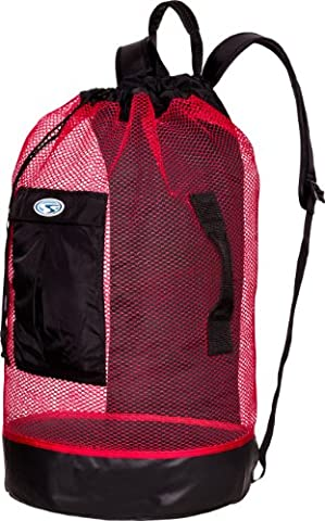 Stahl Sac Panama Mesh Backpack Bag - Red