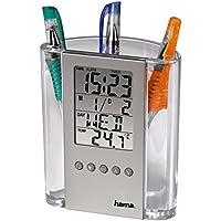 HAMA Termometro LCD con portapenne, orologio, calendario