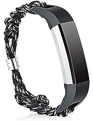 Fitbit Alta y Fitbit Alta HR Correas Cuero Hagibis Nylon Rope Replacement Band Accesorios para Fitbit Alta HR y Alta Strap (Nylon)