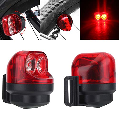 fuchsiaan Bicycle Taillight Waterproof,Magnetic Induction Mountain Road Bike Tire Cycling Flashing for Cycling Safety Warning Light