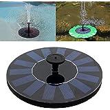 Fontaine Solaire, GOCHANGE 7V /1.4W Pompe à Eau Solaire Aucun Plantes Batterie ou Electricité pour Bassin / Piscine / Décoration de Jardin