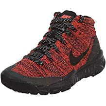 5d472a59c5f33 Nike Womens W Flyknit Trainer Chukka Fsb Bright Crimson Black-Sequoia Fabric  (5.5