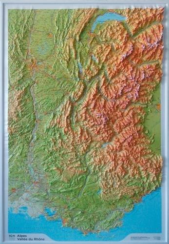 Relief Alpes/Vallée du Rhône 1/375.000.