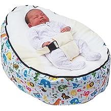 Puf para bebé con arnés de seguridad ajustable y 2fundas