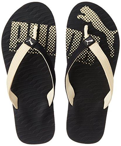 Puma Unisex MiamiFashionDP Black and Creampuff Hawaii Thong Sandals -...