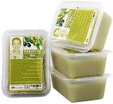 Kosmetex Paraffin-wachs Olive, Paraffinbad Wachs mit niedrigeren Schmelzpunkt, 4x 500ml