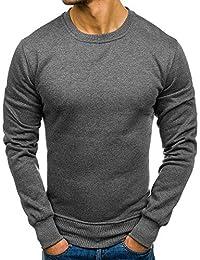 JiaMeng Suéter de Hombre Invierno Manga Larga Suéter Casual Jersey de Punto  Caliente Camiseta Blusa básica 8985fd362f9