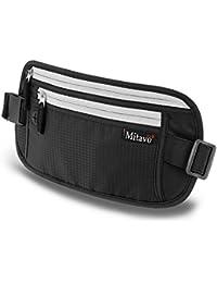 Mitavo riñonera con cinturón de seguridad RFID, cangurera, koala, banano, bolsa de cintura para viajar o correr en seguridad