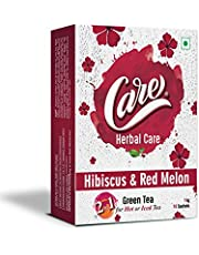 Care 2 in 1 Hot or Iced Hibiscus & Red Melon Green Tea