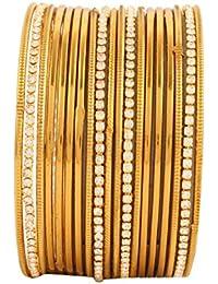 Bling N Beads Ethnic Wedding Gold Bangles For Women Diwali Gift For Her