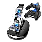 Mondpalast @ Dual Station d'accueil support Dock Station de Charge Station Base double chargeur pour Microsoft Xbox ONE xbox one X-ONE Contrôleurs Manette Controller Gamepad