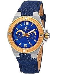 Burgmeister pulsera de reloj de cuarzo con Esfera Analógica Azul Pantalla y azul tela y lienzo para hombre BM220 – 933 – 1