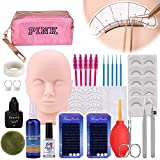 Pestaña Extensión Formación Maniquí Cabeza Equipo, MYSWEETY Kit de práctica de maquillaje con...