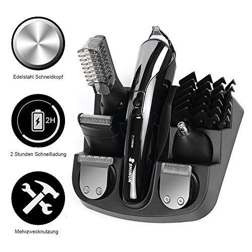 Haarschneider haarschneidemaschine profi haartrimmer Set für Männer elektrischer Bartschneider Körperhaartrimmer Präzisionstrimmer Rasierer Wiederaufladbare Trimmaufsätzen für Kinder und Herren
