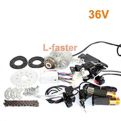 L-faster rápido El kit más nuevo del motor de la E-bici de 450W Kit múltiple eléctrico de la conversión de la bicicleta de la velocidad Kit eléctrico del motor para la bicicleta Multi-velocidad (36V Twist Kit)